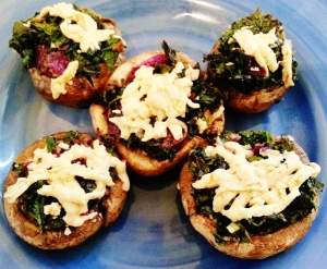 Vegan Stuffed Mshroom Caps with Kale!